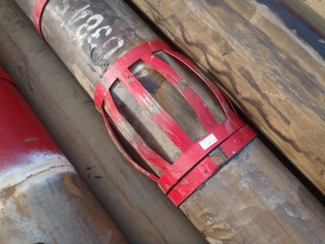 An undamaged centralizer after it had been pulled out of hole (POOH)