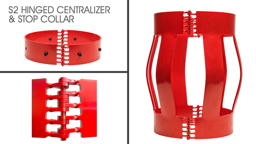 New S2 Hinged centralizer and stop collar